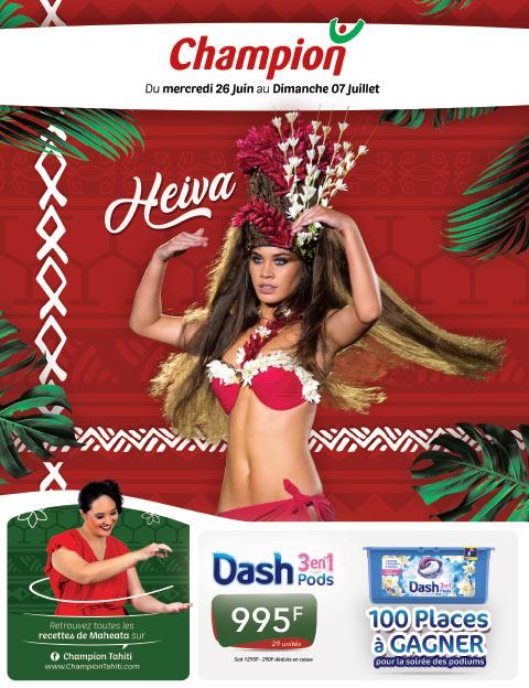 Catalogue Champion Tahiti - Heiva - Du mercredi 26 juin au dimanche 07 juillet