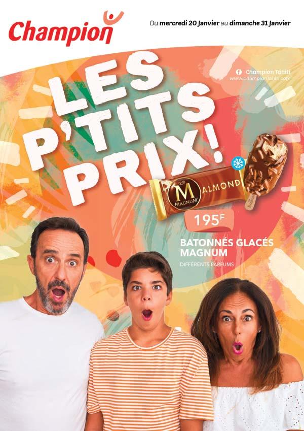 Catalogue Champion - Les p'tits prix ! - Du mercredi 20 au dimanche 31 janvier